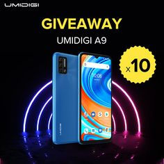 Sorteio de 10 smartphones UMIDIGI A9 Online Contest, Youtube Live, No Response, Smartphone, Free Stuff, Free Samples, Giveaways, India, Prize Draw