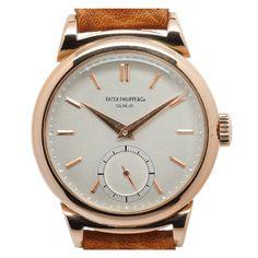 PATEK PHILIPPE Pink Gold Curly Lug Wristwatch Ref 1491