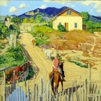 House on a Hill  by Walter Ufer kp