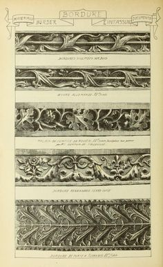 see site for more - 1915 - Vol. 2 - Materials and documents of architecture… Architecture Visualization, Architecture Details, Art Nouveau Illustration, Zardozi Embroidery, Construction Drawings, Pattern Library, Sculpture, Gothic Art, Decoration
