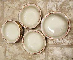 Royal Bayreuth China Set of 8 Berry Bowls - Germany US Zone Color Mark #RoyalBayreuth