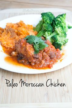 Paleo Moroccan Chicken Recipe ~ total flavor explosion!  You won't believe how amazing this chicken tastes! | 5DollarDinners.com