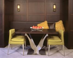 """custom """"Rockette Table"""" designed for a New York City apartment. New York City Apartment, Custom Furniture, Dining Bench, Table, Design, Home Decor, Bespoke Furniture, Decoration Home, Table Bench"""
