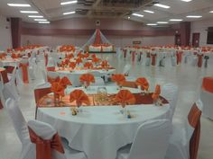 Completed wedding hall decorations