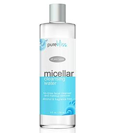 Micellar Cleansing Water - Gentle Alcohol Free, No Rinse Facial Cleanser and Makeup Remover - For All Skin Types including Sensitive - Great for Travel, Post-Workout and Before Bedtime *** Want additional info? Click on the image.
