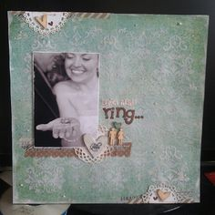 Lori Smith  Amazing!  with this ring scrapbook layout