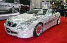 Mercedes-Benz SL500 covered with Swarovski Crystal