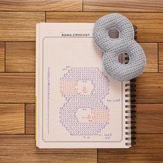 . سيأتي يوم ويتخلى عنك الجميع ويأتي الرسول يشفع لك فلا تنسى الصلاة عليه ..  اللهم صل وسلم على نبينا محمد🍃 . #crochet #crochet_numbers #كروشية