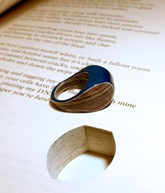 Ring made from recycling a book. So awesome!