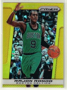 2013/14 Prizm Basketball Rajon Rondo Gold Prizm Refractor Card #05/10 - Celtics #NBABostonCeltics