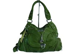 KUMIXI 'COLLIN' AK1168 Damen Tasche in versch. Farben Handtasche 40x28x15 (grün flaschengrün)