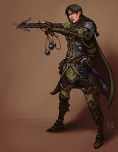 female ranger rogue fantasy pathfinder dungeons and dragons fighter