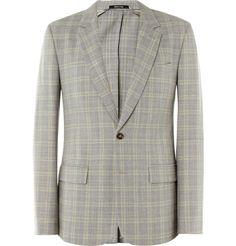 Maison Martin Margiela Slim-Fit Prince of Wales Check Wool-Blend Blazer | MR PORTER