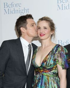 Ethan Hawke & Julie Delpy, Before Midnight aka Jesse & Celine Before Sunset, Before Midnight, Before Trilogy, Julie Delpy, Ethan Hawke, Hawkeye, Then And Now, Beautiful Actresses, Pretty People