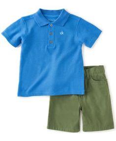 Calvin Klein Little Boys' 2-Piece Polo & Shorts