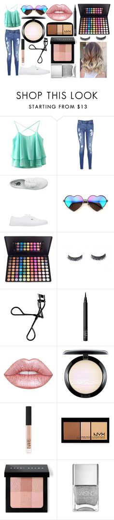 """""""Untitled #6"""" by theimperfect-perfection ❤ liked on Polyvore featuring Tommy Hilfiger, Vans, Wildfox, Bobbi Brown Cosmetics, NARS Cosmetics, Lime Crime, MAC Cosmetics, NYX and Nails Inc."""