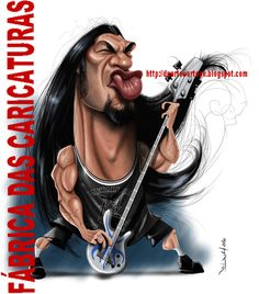 Robert Trujillo (by Fabrica das caricaturas)