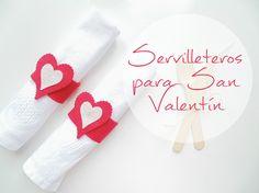 DIY Servilleteros para San Valentín - Post colaboración: El ricón de las cosas bonitas   La cocina de Aisha