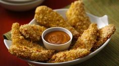Asian Peanut Chicken Tenders. Ginger, lime and peanuts flavor these Asian inspired tenders.
