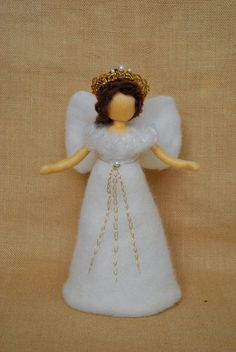 Ready to Ship Christmas  Tree Topper Waldorf Inspired : Angel