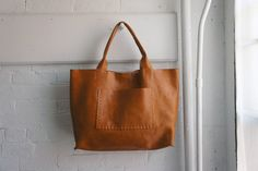 Leather Bag made to by stitchandtickle etsy