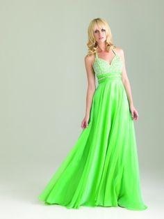 #NightMovesProm 6420 Halter bodice with flowing chiffon skirt. #prom #promdress #Prom360 #IPAProm #dress