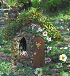 Place a small fairy house in the yard like the one above and sprinkle some fairy dust around it. Description from thelemonzestblog.wordpress.com. I searched for this on bing.com/images