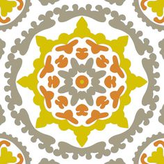 Designer Removable Wallpaper  Modern Suzani by GailWrightatHome, $125.00