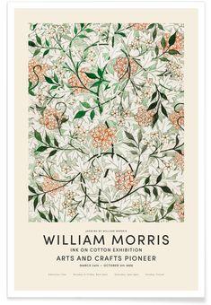 William Morris Patterns, William Morris Art, William Morris Wallpaper, Botanical Illustration, Illustration Art, 4 Tattoo, Morris Wallpapers, Jasmin, Exhibition Poster