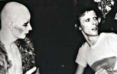 Lindsay Kemp and David Bowie, 1972.