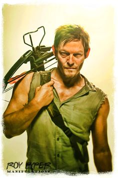 The Walking Dead: Daryl: BuzSim Paint Re-Edit by nerdboy69 on deviantART