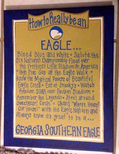 Georgia Southern fan - acrylic on canvas