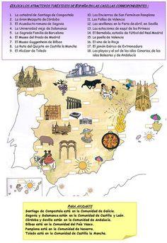 Cette fiche est très intéressante pour préparer un voyage en Espagne, étudier la géographie et l'Histoire des Arts.