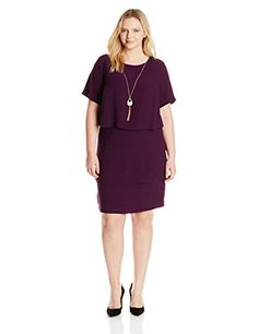 AGB Women's Plus-Size Three Tier A Line Crepe Dress  http://www.artydress.com/agb-womens-plus-size-three-tier-a-line-crepe-dress/