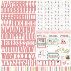 Echo Park - Bundle of Joy Collection - Girl - 12 x 12 Cardstock Stickers - Alphabet at Scrapbook.com