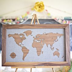 Fancy color your travels world map poster c 3 maps pinterest wooden world map gumiabroncs Gallery