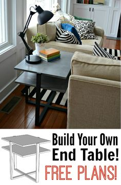Diy Living Room End Table Tutorial