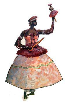 """Euá - Imagens retiradas do livro """"Os Deuses Africanos no Candomblé da Bahia"""" de Caribé"""