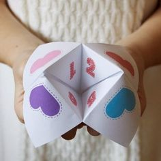 Make your own Fortune Teller Valentines with this free printable!