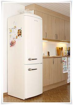 Cream Gorenje fridge freezer - I really want one of these!