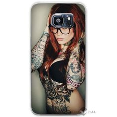 Floral Sugar Skull cool Tattooed Clear Case Cover Coque Shell for Samsung Galaxy S3 S4 S5 Mini S6 S7 Edge Plus
