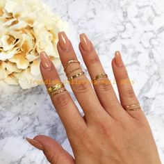 Tea Leaf Ring Set – Gold – Fashion Nova Many women prefer to go to the hairdresser even though … Summer Acrylic Nails, Summer Nails, Short Nails, Long Nails, Coffin Nails, Gel Nails, Toenails, Nude Nails, Manicures