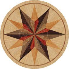 24 Quot Wood Floor Medallion Inlay 100 Piece Compass Kit Diy