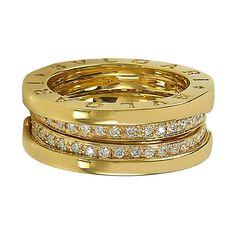 Bulgari Diamond Gold B.Zero Ring