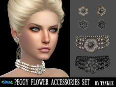 Lana CC Finds - Peggy Flower Accessories Set by Tankuz