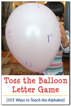 *Could also do it with plastic beach balls* Toss the Balloon Letter Game: Kids love to move, and this toss the balloon game will get kids moving and learning their letters in no time! See how simple it is to play! Letter Games, Alphabet Activities, Science Activities For Kids, Preschool Activities, Literacy Activities, Preschool Curriculum, Preschool Kindergarten, Homeschooling, Kids Moves