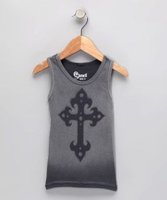 Take a look at this Silver Iron Cross Tank - Toddler & Kids by Stencil on #zulily today!