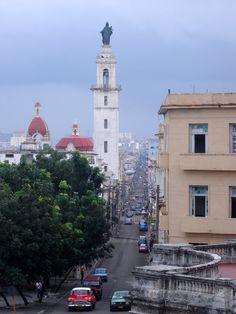 Vista desde la escalinata de la Universidad de La Habana
