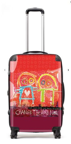 Suitcase Change the World Suitcases, Change The World, Figurative, Denmark, Illustration, Fun, Painting, Design, Products