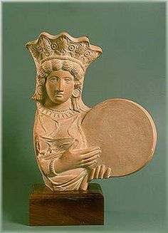 The Goddess of the mountains and the cities. Modern cast of ancient Roman mold. Museum of Athens, Greece Ancient Romans, Ancient Art, Frame Drum, Drums Art, Sound Healing, Mirror Image, Bronze Age, Art Of Living, Timeless Beauty
